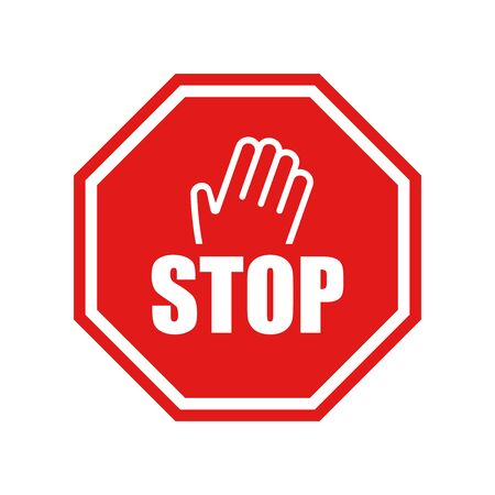 Stop vector sign with hand Illustration