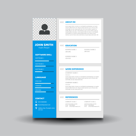 curriculum vitae template design 矢量图像