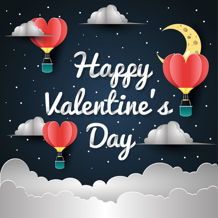 happy valentine day greeting card Иллюстрация