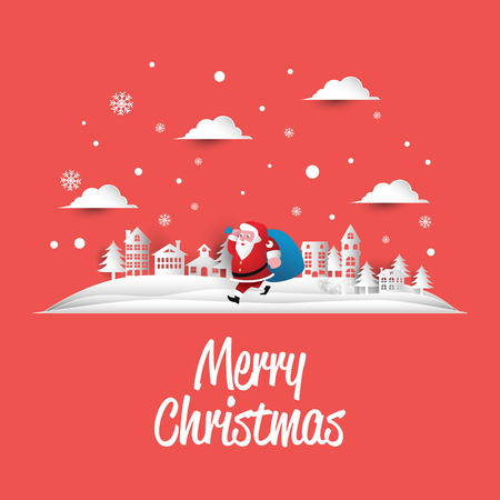merry christmas simple greeting card Stock Illustratie