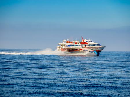 aeolian: Hydrofoil at Aeolian islands Editorial