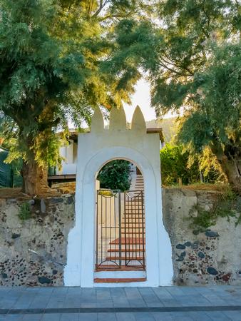 salina: Nice gate on Salina, Sicily