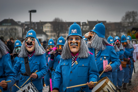 clique: Carneval at Basle, Switzerland