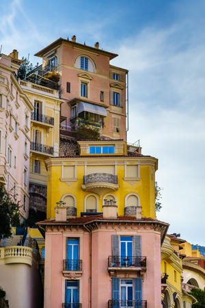 Lovely and beautiful buildings with decorations in Monaco