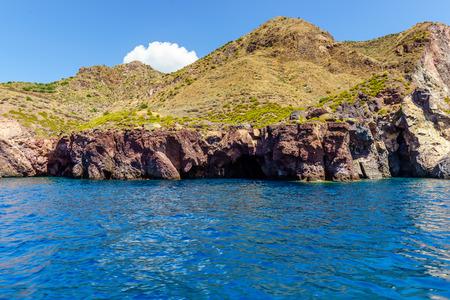 Coast of the beautiful island of the Lipari, Aeolian Sicily