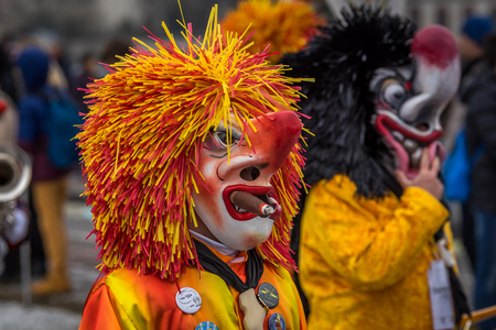 fasnacht: Carnival at Basel Switzerland Stock Photo