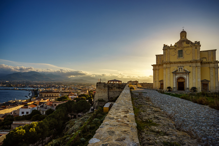 Old cathedral of Milazzo, Sicily Stok Fotoğraf