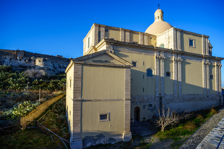 capo: Old cathedral of Milazzo, Sicily Stock Photo