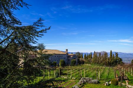 dom: Benedictine Abbey -Montecassino in Italy