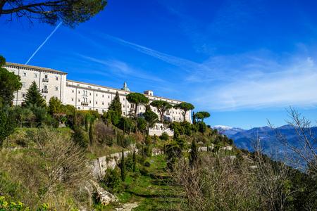 Benedictine Abbey -Montecassino in Italy Stock Photo