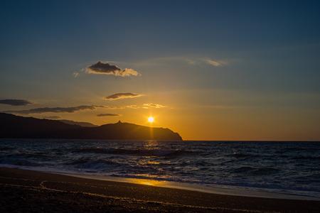 Sunrise at Tinderi beach, Sicily