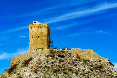 erice: Torre Normanna close to village Torre Colonna-Sperone