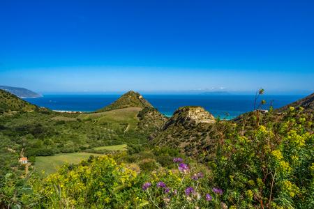 Sicilian sea coast with islands near cape Tindari