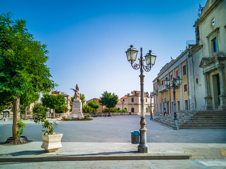 megaliths: Montalbano elicona, medieval village in Sicily