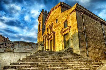 Montalbano Elicona mother church, Sicily, Italy.