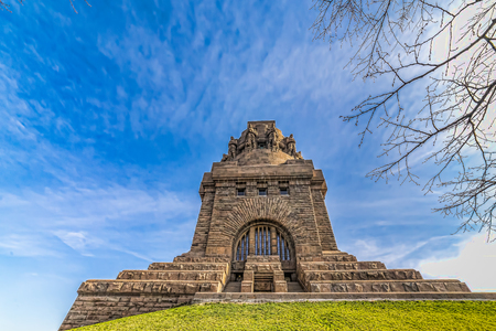 Monument to the Battle of the Nations, Leipzig, Germany. 版權商用圖片 - 87606420