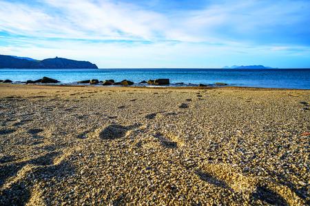 Portorosa at Tindari beach, Sicily Banco de Imagens