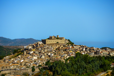 View on Montalbano Elicona, Scily