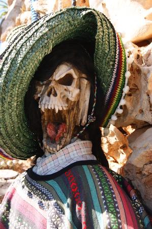 Skeleton in the desert photo