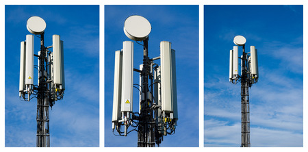 mobilephones: Collage with cell towers