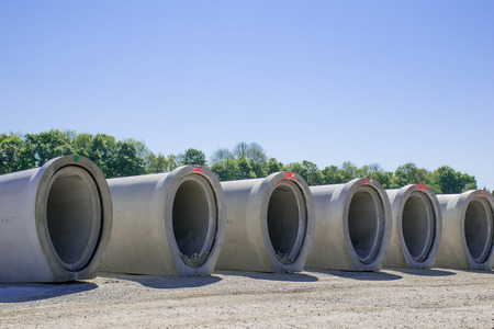 constraction: Concrete pipes in sewer construction