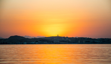 hurghada: Sunset over El Gouna, Hurghada,Egypt