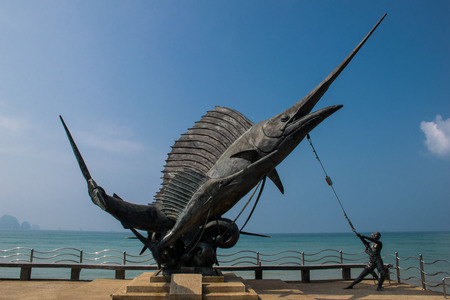 aonang: Swordfish on the waterfront in krabi, ao nang, thailand