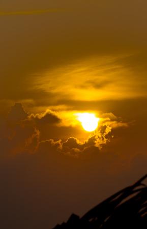Sunset and cloud sky