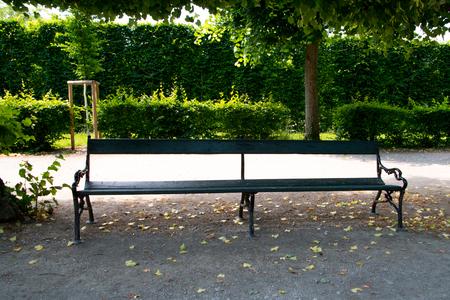 Bench in the park Stockfoto