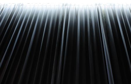 famous paintings: Dark blue curtain Stock Photo