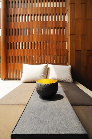 Miejsce na pobyt dla relaksu. Zdjęcie Seryjne