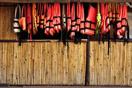tabique: Partici�n de bamb� Foto de archivo