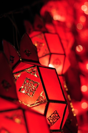new year celebration: Red lantern