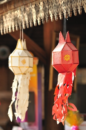 Lanna lantern festival decoration photo