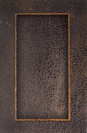 Leather frame background photo
