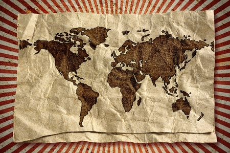 World map retro style  photo