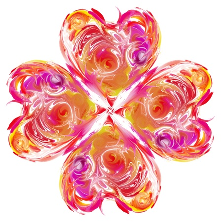 Abstract flower heart contemporary artwork photo