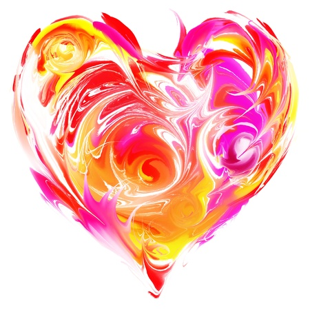 Colorful heart  oil paint style photo