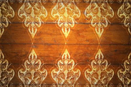 Pattern Decorative Art of Lanna Thai. digital fine-art on wood Stock Photo - 12930430