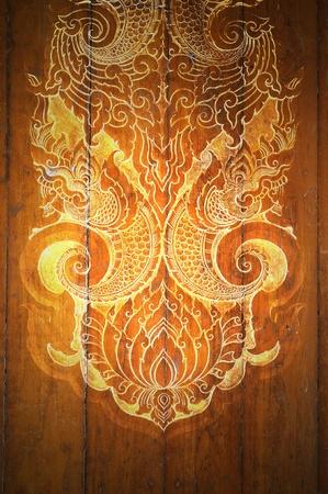 thai  art: Pattern Decorative Art of Lanna Thai. digital fine-art on wood