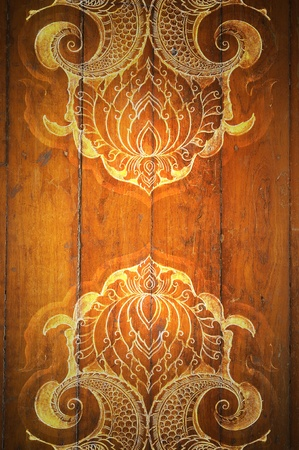 Pattern Decorative Art of Lanna Thai. digital fine-art on wood photo