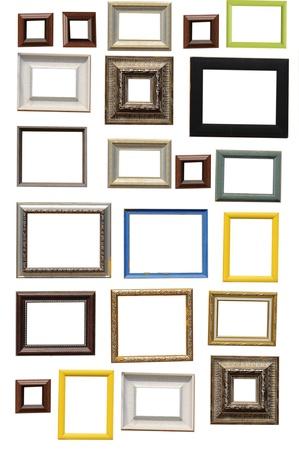 Multi art frame isolated on white background