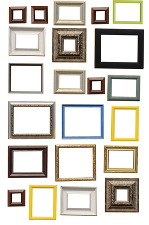 decorate: Multi art frame isolated on white background
