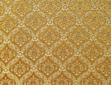 thailand silk: Gold seamless Thailand pattern on fabric