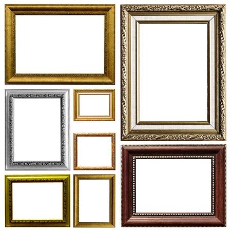 Baroque picture frame: Art cadre isol� sur fond blanc