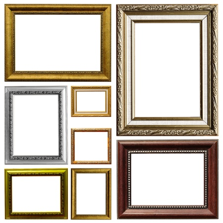 Art frame isolated on white background
