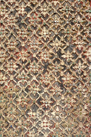 Ancient lanna pattern ; Wat Duang Dee Chiangmai Thailand photo
