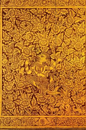Literature Thai pattern Stock Photo - 13832198