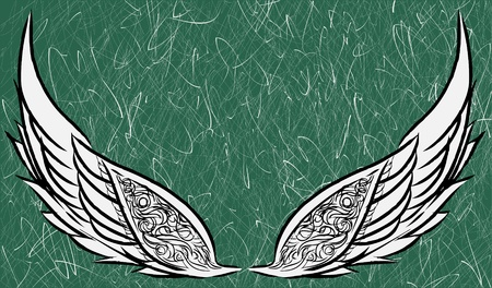 asian angel: Preliminary wings sketch version