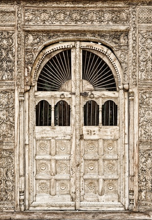 Ancient doors wood ; contemporary style Stock Photo